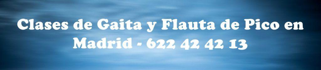Clases de gaita y flauta en Madrid