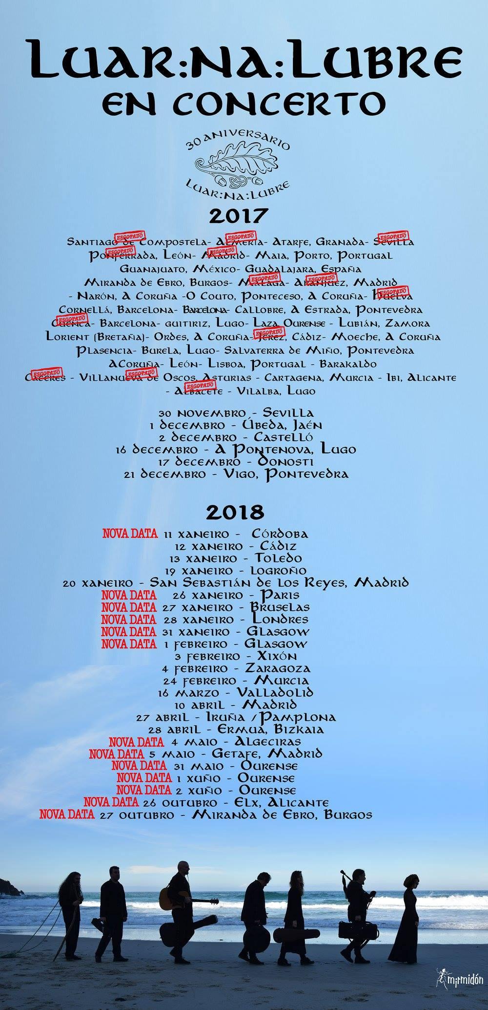Luar na lubre conciertos 2018