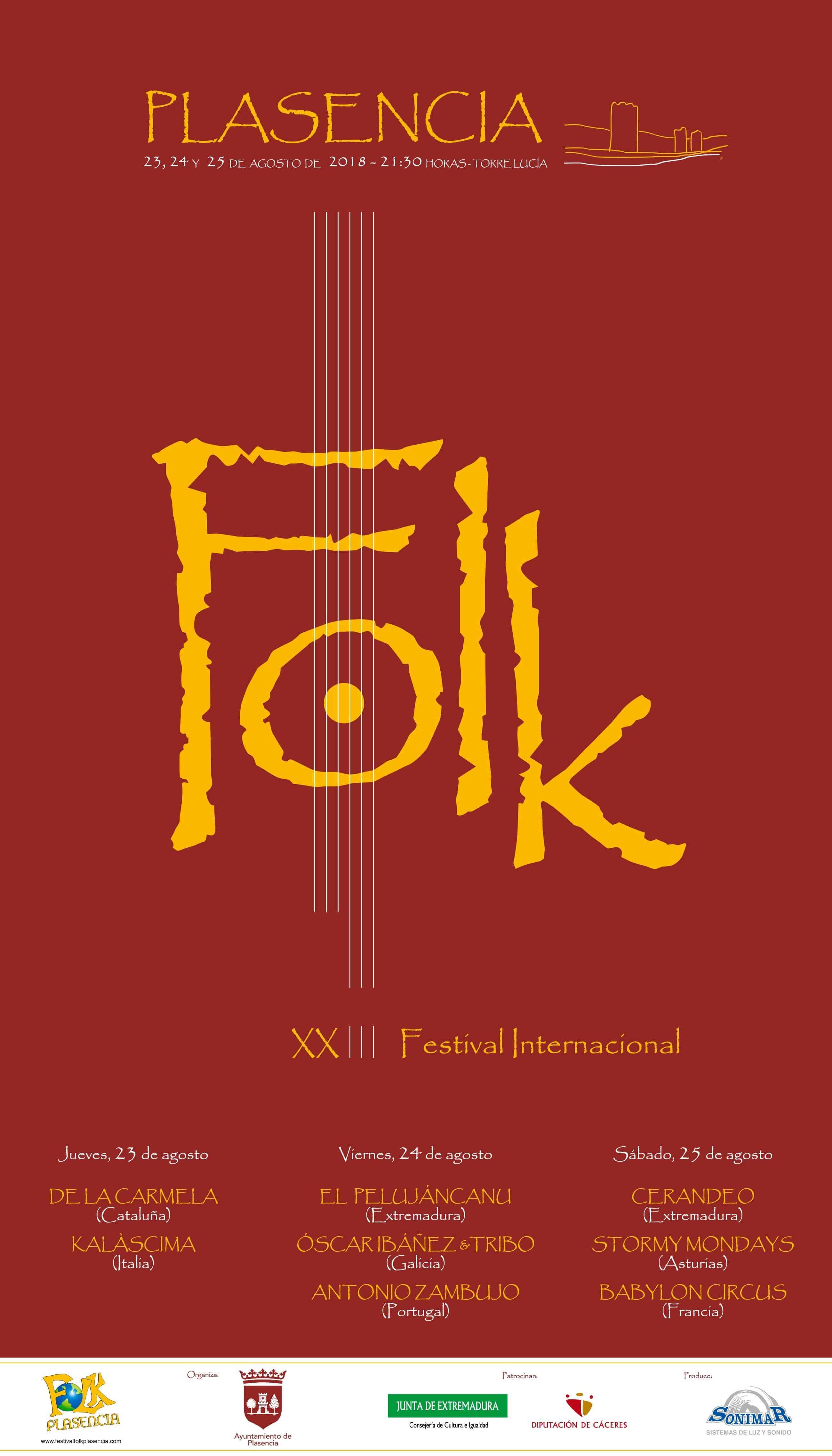 Cartel Folk Plasencia