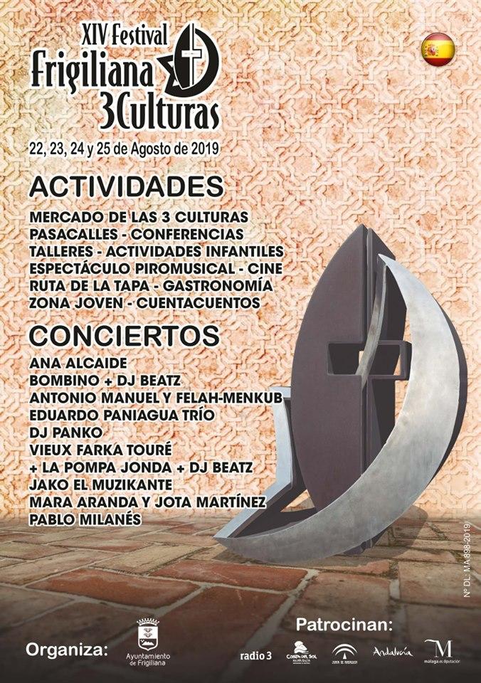cartel festival tres culturas frigiliana