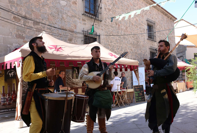 mercado medieval de avila musicos