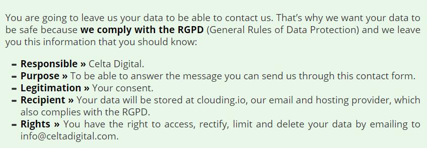 data protection english