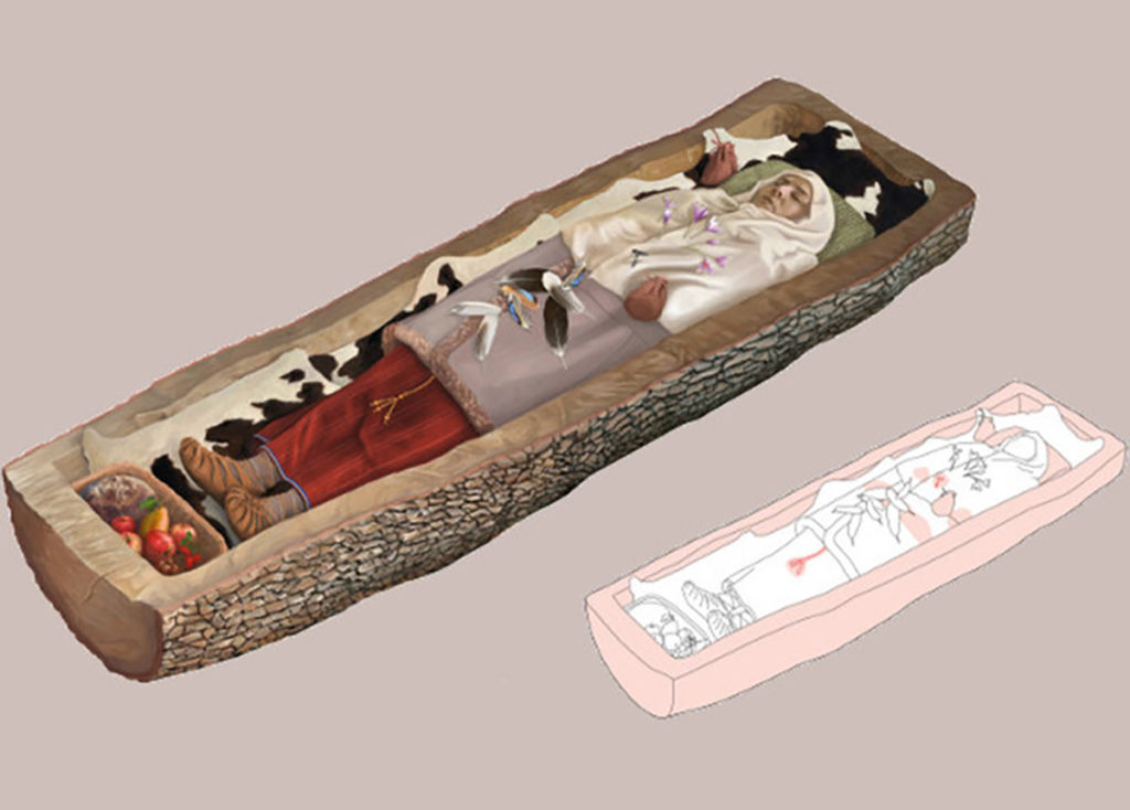 mujer celta enterrada
